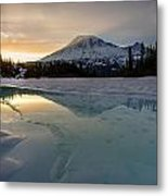 Frozen Rainier Vision Metal Print