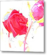 Frozen Rose Metal Print