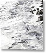 Frozen Shoreline Metal Print
