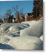 Frozen Surf Metal Print