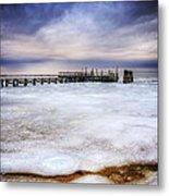 Frozen Tundra Of Long Island Metal Print