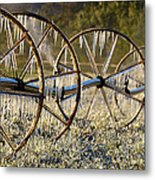 Frozen Wheels Metal Print
