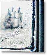 Frozen Windowpane Metal Print