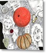 Fruit Afloat Metal Print
