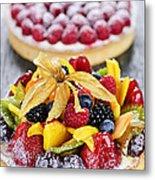 Fruit And Berry Tarts Metal Print