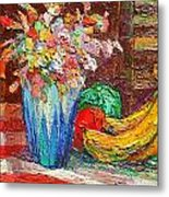 Fruit And Flowers Metal Print
