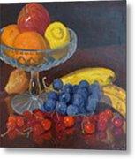 Fruit And Glass Metal Print