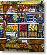 Fruit And Vegetable Market By Alison Tave Metal Print