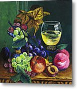 Fruit And Wine Metal Print by Karon Melillo DeVega