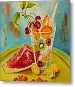 Fruit Coctail Metal Print by Summer Celeste