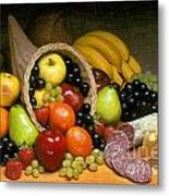 Fruit Cornucopia  Metal Print