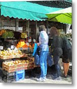 Fruit For Sale Hoboken Nj Metal Print