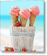 Fruit Ice Cream Metal Print