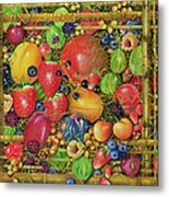 Fruit In Bamboo Box Metal Print