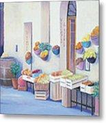 Fruit Market In Tuscany Metal Print