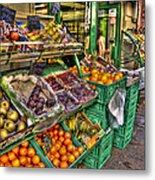 Fruit Market Metal Print