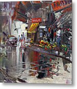 Fruit Market Metal Print