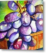 Purple Grapes Metal Print