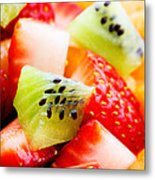 Fruit Salad Macro Metal Print