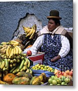 Fruit Seller Metal Print by James Brunker