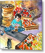 Fruit Shop In The Mountains Of Gran Canaria Metal Print