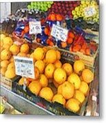 Fruit Stand Hoboken Nj Metal Print
