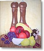 Fruit Table Metal Print