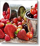 Fruits And Berries Metal Print