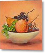 Fruits In A Plate Metal Print