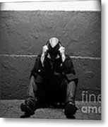 Frustration In Thought. Metal Print