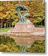 Fryderyk Chopin Statue In Warsaw Metal Print