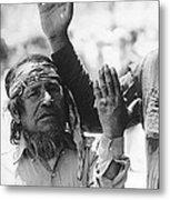 Ft. Apache Homage 1948 Ft. Apache Celebration Ft. Apache Arizona Saluting Apaches 1970 Metal Print