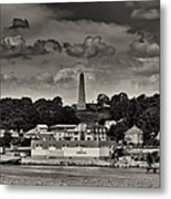 Ft Griswald Monument Black And White Metal Print