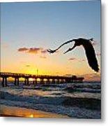 Ft Lauderdale Fishing Pier Metal Print