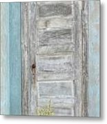 Ft. Stockton House Door Metal Print