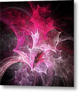 Fuchsia Fountain Abstract Metal Print by Andee Design