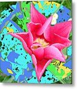 Fuchsia Tulip By M.l.d. Moerings 2012 Metal Print