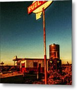 Fuel Stop Metal Print by Pam Vick