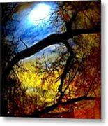 Full Crow Moon Metal Print by Maria Scarfone