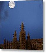 Full Moon At Bandiagara Mali Metal Print
