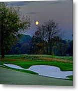 Full Moon At The Philadelphia Cricket Club Metal Print by Bill Cannon