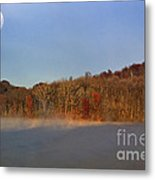 Full Moon Big Ditch Lake Metal Print by Thomas R Fletcher