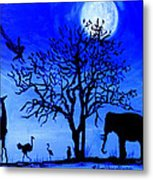 Full Moon In Africa Metal Print by Pilar  Martinez-Byrne