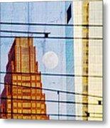 Full Moon In The City Metal Print