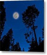 Full Moon In Yosemite Metal Print