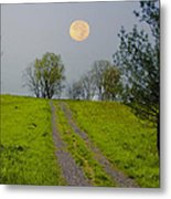 Full Moon On The Rise Metal Print