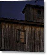 Full Moon Over Barn Metal Print