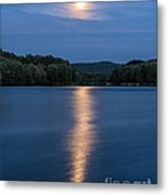 Full Moon Over Locke Lake Metal Print