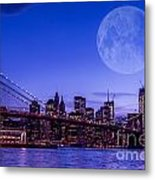 Full Moon Over Manhattan II Metal Print