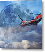 Full Moon Rescue Metal Print by Betsy Knapp